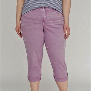 Lane Bryant Girlfriend CROP JEAN Dusty Plum Denim